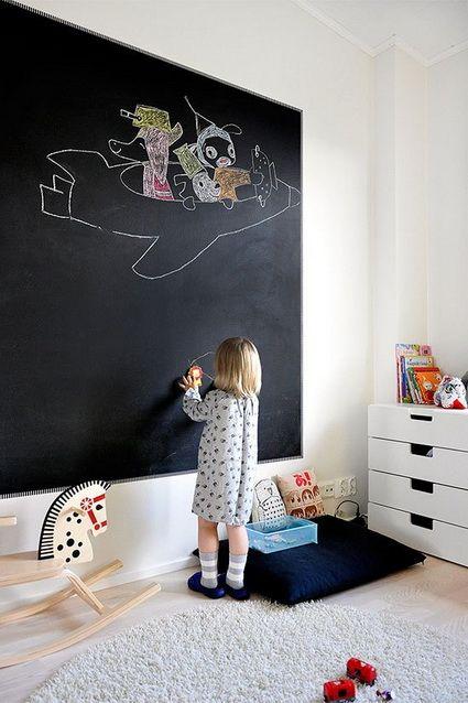 decoracion-habitacion-niños-pizarra